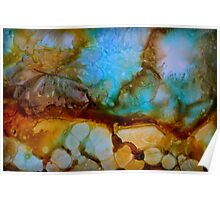 Abstract turquoise gemstone Poster