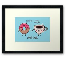 sweet couple Framed Print