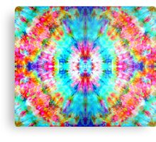 Rainbow Sunburst Tie-Dye Metal Print