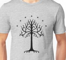 The White Tree of Gondor (black) Unisex T-Shirt