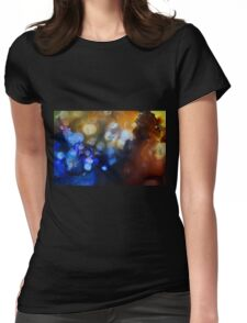 Abstract gemstone painting Womens Fitted T-Shirt