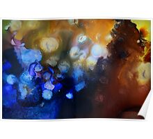 Abstract gemstone painting Poster