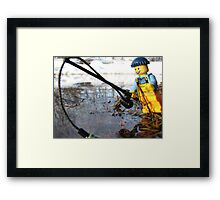 Some Fishing Action Framed Print