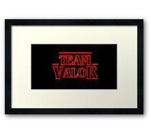Team Valor Stranger Framed Print