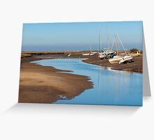 Boats at Blakeney Greeting Card