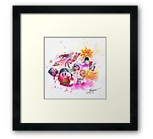 Kirby - Pink and Mighty  Framed Print