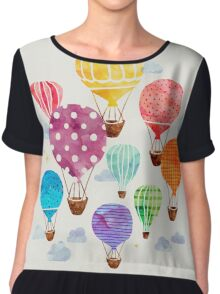 Hot Air Balloon Chiffon Top