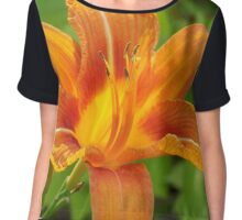Blossom of Fire Chiffon Top