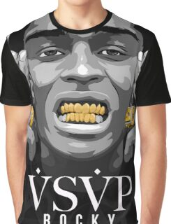 Gold Grills - ASAP Rocky Illustration Graphic T-Shirt