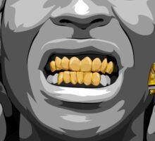 Gold Grills - ASAP Rocky Illustration Sticker
