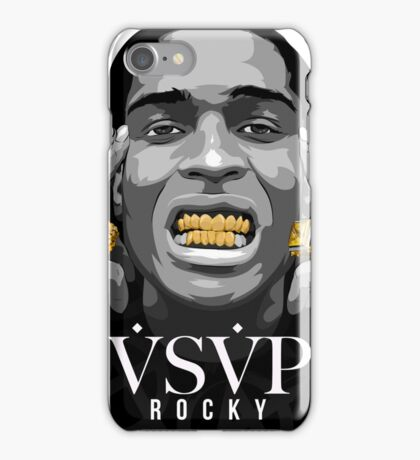 Gold Grills - ASAP Rocky Illustration iPhone Case/Skin