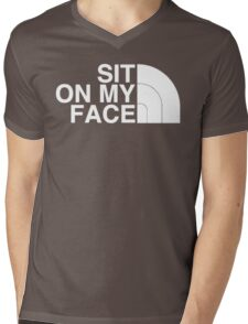Sit On My Face ( White Edition ) Mens V-Neck T-Shirt