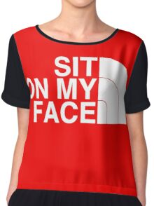 Sit On My Face ( White Edition ) Chiffon Top