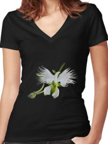 The Orchid Women's Fitted V-Neck T-Shirt
