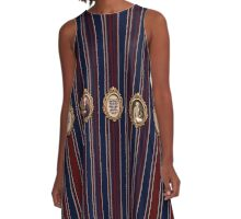 Stripes and Robespierre A-Line Dress