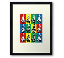 Just Vivi - Popart Bold - Ipad Case Framed Print