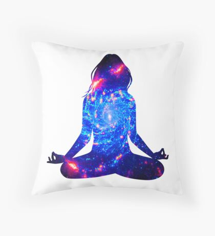 a mote of dust suspended in a sunbeam Throw Pillow
