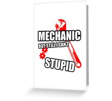 A Mechanic Cant Fix Stupid Greeting Card