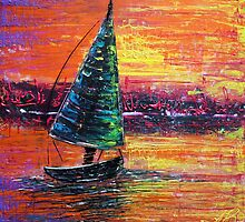 Sailing at Sunset by Laura Barbosa