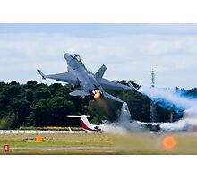 F-16 Takes Off Photographic Print
