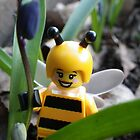 Bumblebee Lady in the Flowers by Shauna  Kosoris
