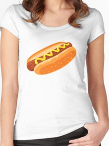 Big Hotdog - Yum! - Funny Humor T Shirt Women's Fitted Scoop T-Shirt