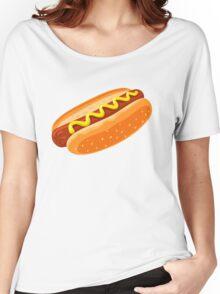 Big Hotdog - Yum! - Funny Humor T Shirt Women's Relaxed Fit T-Shirt