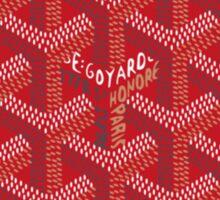Goyard Red Pattern Sticker