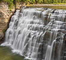 Middle Falls at Letchworth by Kenneth Keifer