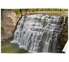 Middle Falls at Letchworth Poster