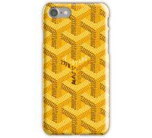 Goyard Yellow Pattern iPhone Case/Skin