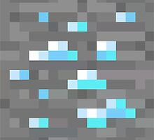 Minecraft Diamond Block  by Legitbit