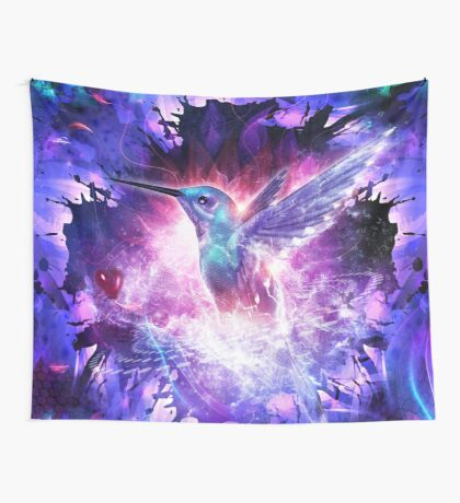 Hummingbird Love Wall Tapestry