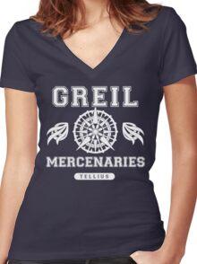 greil mercenaries Women's Fitted V-Neck T-Shirt