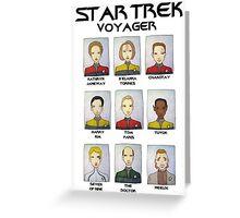 STAR TREK VOYAGER  Greeting Card