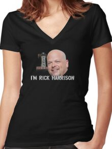 Rick Harrison's Pawn Shop Women's Fitted V-Neck T-Shirt