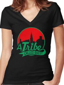 ATCQ Women's Fitted V-Neck T-Shirt