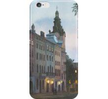 Evening at Rynok square, Lviv iPhone Case/Skin