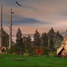 Native American Tepee by Walter Colvin