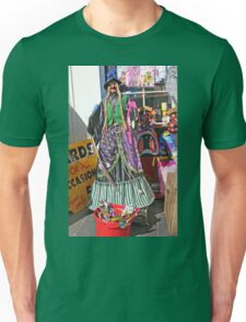 Halloween witch outside a shop Unisex T-Shirt