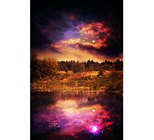 Night Forest and River 4 Photographic Print