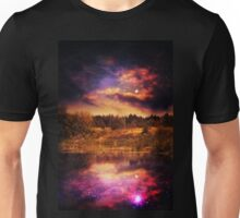 Night Forest and River 4 Unisex T-Shirt