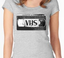 VHS Video Cassette Women's Fitted Scoop T-Shirt
