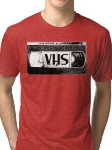 VHS Video Cassette Tri-blend T-Shirt