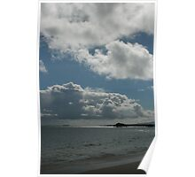 beach time with clouds Poster
