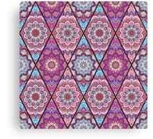 Boho Pattern Flower Mandala Tender Canvas Print