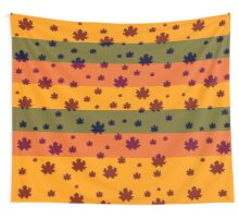 Falling leaves in autumn Wall Tapestry