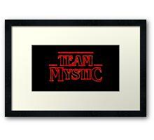 Stranger Team Mystic Framed Print