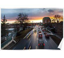 Memorial Drive Sunset Poster
