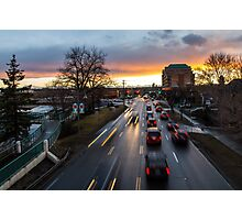 Memorial Drive Sunset Photographic Print